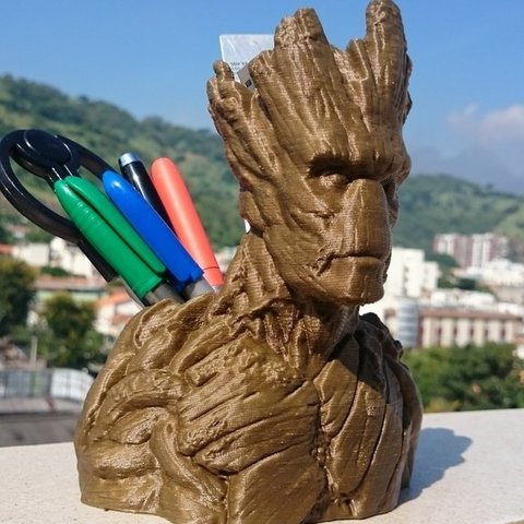 Download free 3D model Groot Pen Holder, Dourgurd