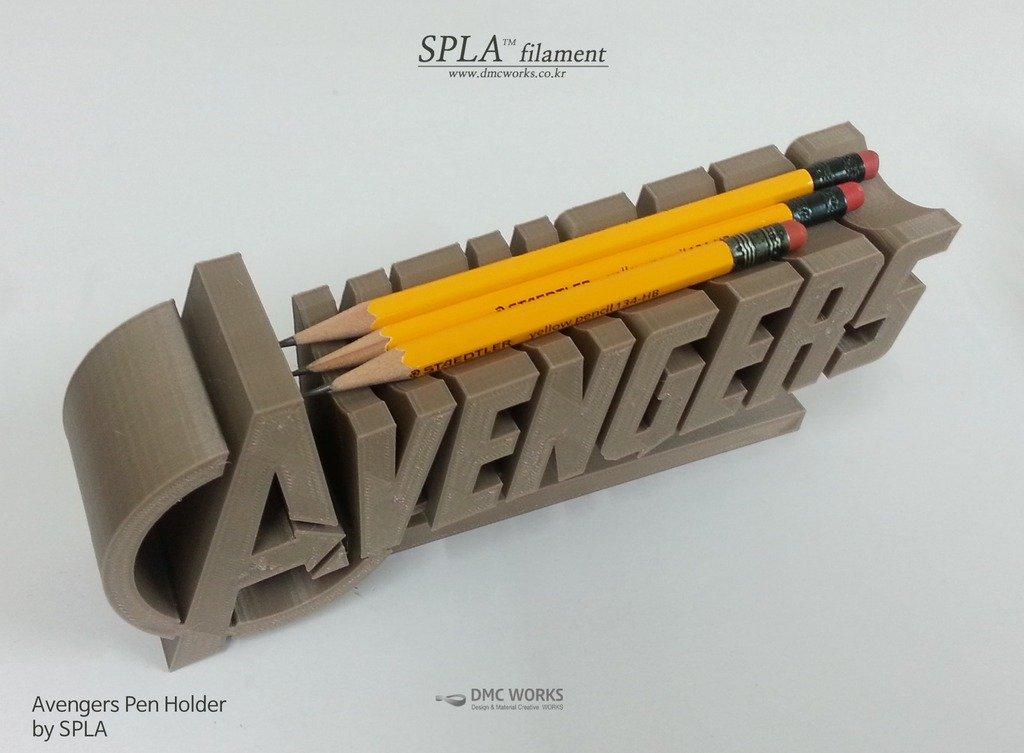 avenger_4_display_large.jpg Télécharger fichier STL gratuit Porte-stylo Avengers • Objet pour imprimante 3D, Dourgurd