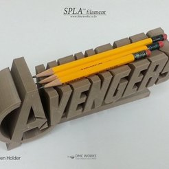 Download free 3D printing templates Avengers Pen Holder, Dourgurd
