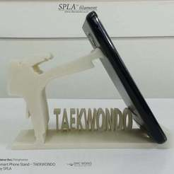 Download free 3D printing models Smart Phone Stand - TAEKWONDO, Dourgurd