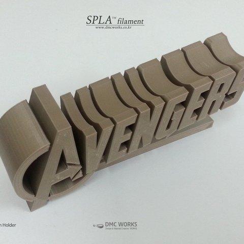 avenger_3_display_large.jpg Télécharger fichier STL gratuit Porte-stylo Avengers • Objet pour imprimante 3D, Dourgurd