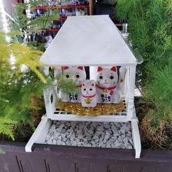 Pot_House_02.jpg Télécharger fichier STL gratuit Maison pour maneki neco sur pot de fleur • Plan à imprimer en 3D, xip28xip