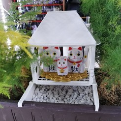 Pot_House_02.jpg Download free STL file House for maneki neco on flower pot • 3D print model, xip28xip