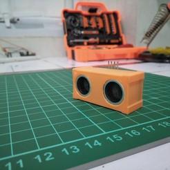 Télécharger modèle 3D gratuit capteur ultrasonique HC, februandi