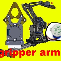 Download STL file gripper robot arm • 3D print object, februandi
