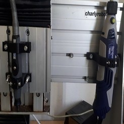 20190715_161..jpg Download free STL file Flexible dremel support and mini crossroads drill for charlyrobot • Object to 3D print, leheron