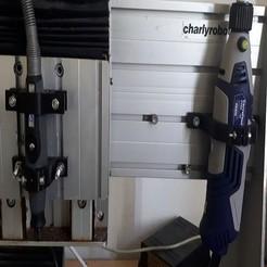 Impresiones 3D gratis Soporte flexible dremel y taladro mini crossroads para charlyrobot, leheron
