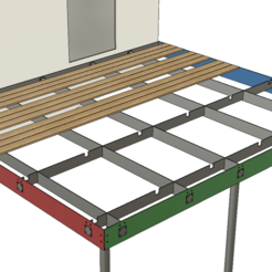 1.PNG Download STL file Balcony design complete out of steel and wood • 3D printable template, Frankthetank