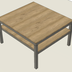1.PNG Download free STL file Table Steel Wood • 3D print template, Frankthetank