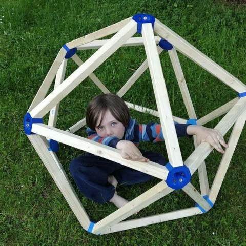 Free STL Regular icosahedron Dome Connector, Frankthetank