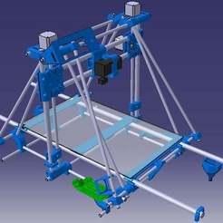 Free 3D printer files Prusa Mendel 500 x 300 3d Printer tested, Frankthetank