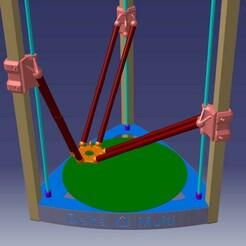 Unten.jpg Télécharger fichier STL Imprimante Delta Multi 3d avec éléments coulissants et cadre en acier • Modèle à imprimer en 3D, Frankthetank