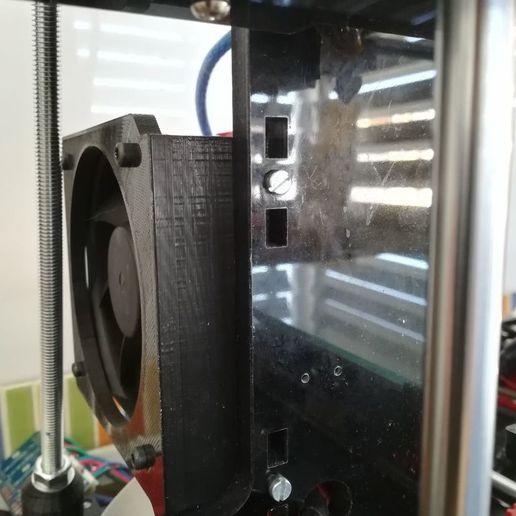 Foto02.jpg Télécharger fichier STL gratuit Soutien au ventilateur électronique Anet A6 • Design imprimable en 3D, robertoperezparro