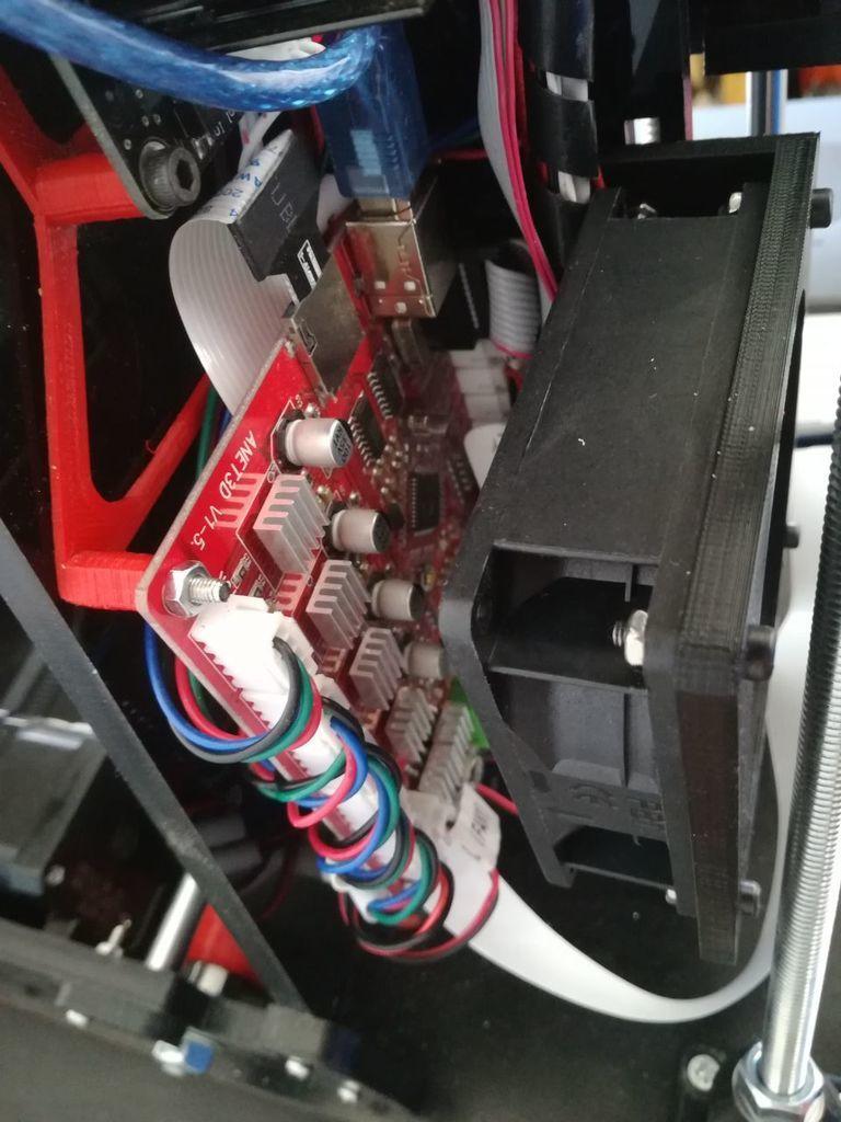 Foto01.jpg Télécharger fichier STL gratuit Soutien au ventilateur électronique Anet A6 • Design imprimable en 3D, robertoperezparro