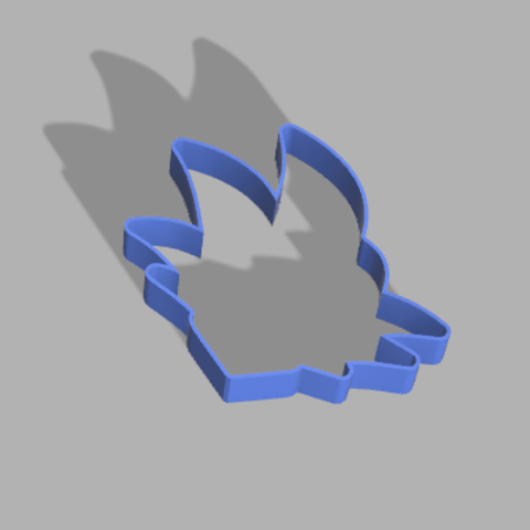 Descargar modelo 3D gratis Molde para galletas San goku, defdjamel2008