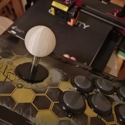 Download 3D print files FIGHTSTICK BASIC TOP BALL, CodeDiCode