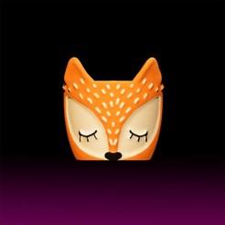 MacetaZorrito.jpg Download STL file LITTLE FOX POT • 3D printer design, eugearg