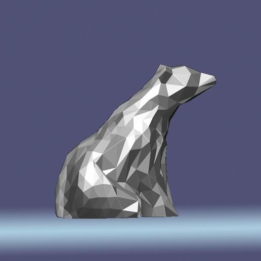 Download 3D printer model Low Poly Polar Bear, eugearg
