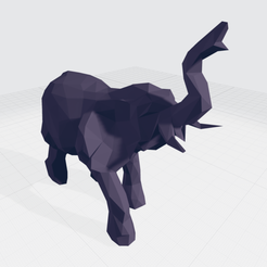 Download 3D printer templates Low Poly Elephant, eugearg