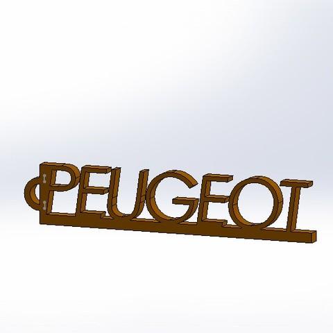 Descargar modelo 3D gratis llavero Peugeot, pachumorano