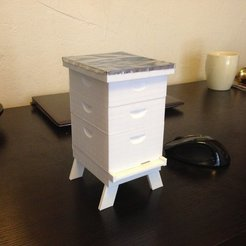Download free 3D printer designs The Ultimate Langstroth Beehive Model, beelover3D