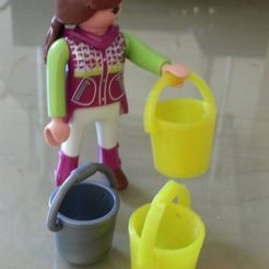 Download free STL files Playmobil bucket - Eimer, Kübel, Beekeeper3Dprinter