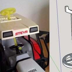 Download free 3D print files Traktor Trekker Lenkstange, tractor steering rod, Beekeeper3Dprinter
