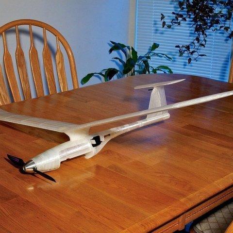 Download free STL files Fully 3D printed modular RC Sailplane., Georgemacghay
