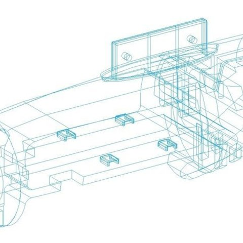 Fuselage_wireframe_display_large.jpg Télécharger fichier STL gratuit Planeur modulaire RC Sailplane entièrement imprimé en 3D. • Objet à imprimer en 3D, Georgemacghay