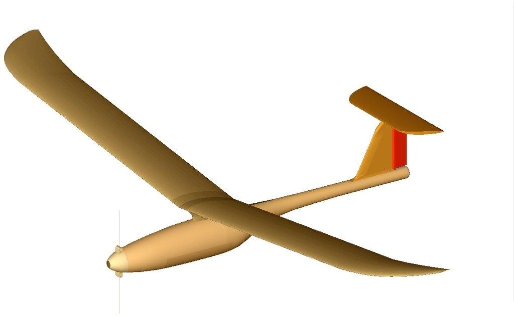 Printed_plane_display_large.jpg Télécharger fichier STL gratuit Planeur modulaire RC Sailplane entièrement imprimé en 3D. • Objet à imprimer en 3D, Georgemacghay