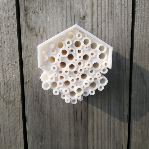 Download free 3D printing templates Bee Hotel, Lorrainedelgado3DBEES