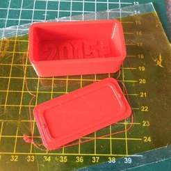 Download free STL file General Purpose Red Box 60 x 30mm, Lorrainedelgado3DBEES