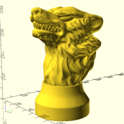 Download free 3D printer files Game Of Thrones Stark House Badge, Or10m4
