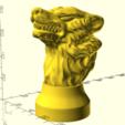 Stark 002.png Télécharger fichier STL gratuit Insigne de la maison de pierre de jeu des trônes de trônes • Modèle imprimable en 3D, Or10m4
