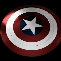 Descargar modelos 3D gratis Captain America Shield Endgame, Or10m4