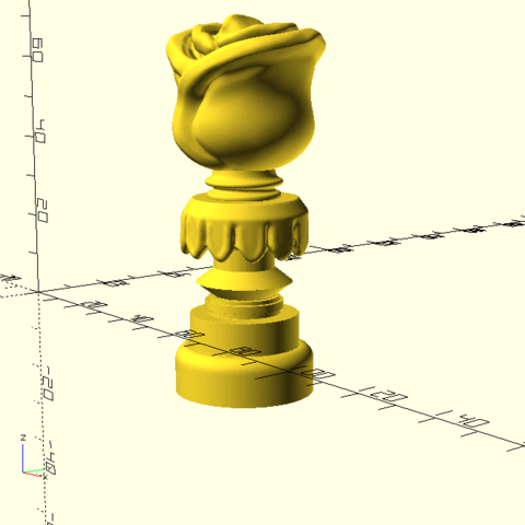Download free 3D printer templates Game Of Thrones Tyrell House Badge, Or10m4