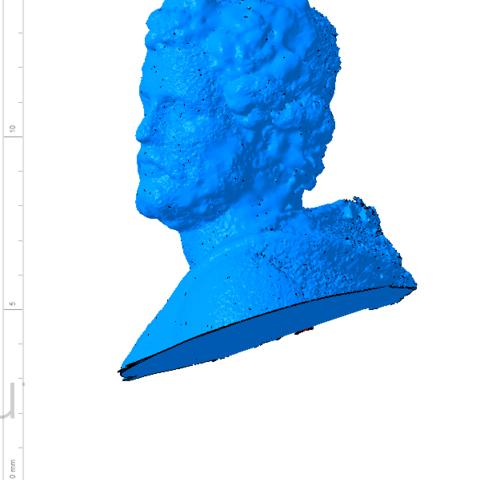Annibal 002.png Télécharger fichier OBJ gratuit Buste de la statue d'Hannibal Slodtz Atelier Des Lumiers musée • Modèle pour impression 3D, Or10m4
