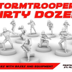 STORMT_POSTER.jpg Download STL file STORMTROOPERS DIRTY DOZEN, LEGION SCALE, STAR WARS, RPG, UNPAINTED, ROLE PLAYING, D&D • 3D printer model, LANARDARNA