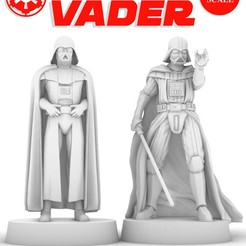 vader_poster.jpg Download free STL file DARTH VADER STANDING & USING THE FORCE, LEGION SCALE, STAR WARS, RPG, UNPAINTED, ROLE PLAYING, D&D • 3D printing design, LANARDARNA