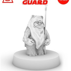 EWOK_poster.jpg Download free STL file EWOK GUARD, LEGION SCALE, STAR WARS, RPG, UNPAINTED, ROLE PLAYING, D&D • 3D printing design, LANARDARNA