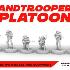 SANDTROPP_POSTER.jpg Download STL file SANDTROOPERS PLATOON, LEGION SCALE, STAR WARS, RPG, UNPAINTED, ROLE PLAYING, D&D • Object to 3D print, LANARDARNA