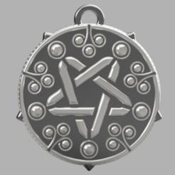 Download 3D model Yennefer pendant , Skap14