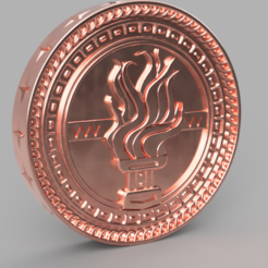 "Download 3D printing templates Tussent coin for the game ""Gwent"". Witcher, Skap14"
