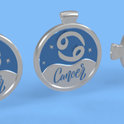 cancer 1.png Download STL file 3 IN 1. COIN, BANGLE AND KYLON WITH THE CANCER. • Template to 3D print, Skap14