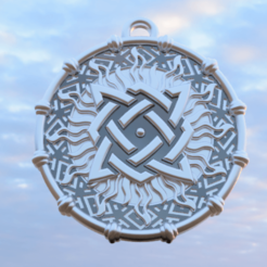 "Svarog Square 4.png Download STL file Amulet ""Svarog Square"" • Object to 3D print, Skap14"