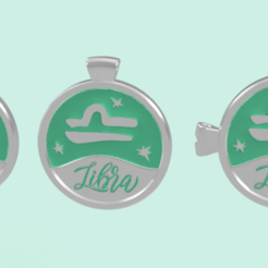 libra  1.PNG Download STL file 3 IN 1. COIN, BANGLE AND KYLON WITH THE LIBRA. • 3D printable design, Skap14