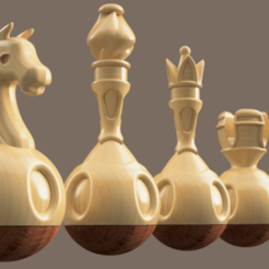 chess 1.png Download STL file Tumbler chess • 3D printing object, Skap14