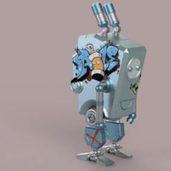 robotCute 1.png Download STL file cute robot • 3D print object, Skap14