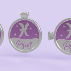 pisces 1.PNG Download STL file 3 IN 1. COIN, BANGLE AND KYLON WITH THE PISCES. • 3D printer model, Skap14