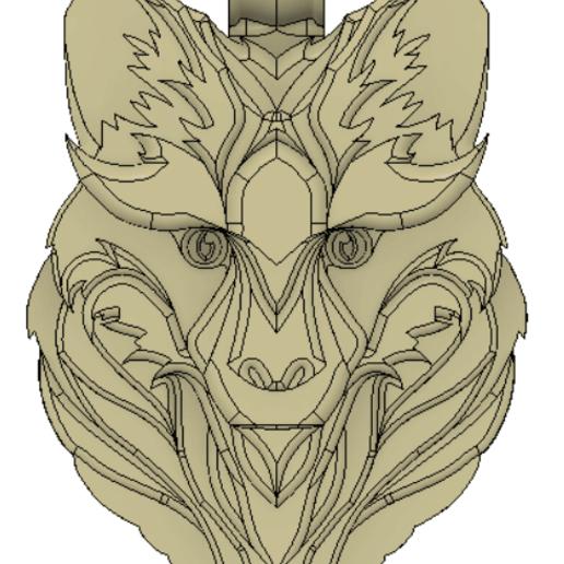 кулонрендер4.png Télécharger fichier STL gratuit Pendentif Fox • Plan imprimable en 3D, Skap14